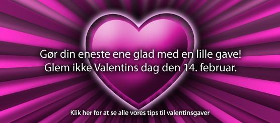 Valentines day gaver – se alle vores tips til Valentines day gaver