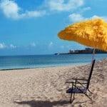 Strand parasol – pris DKK 229,-