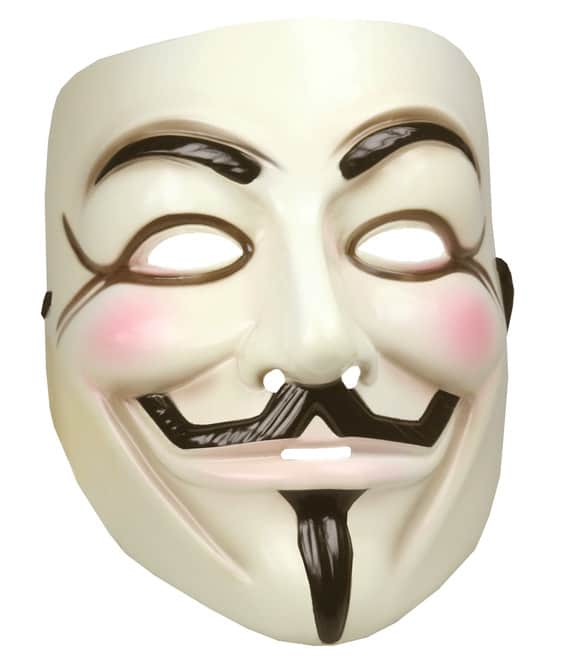 Guy Fawkes maske – V for vendetta, pris DKK 110,-