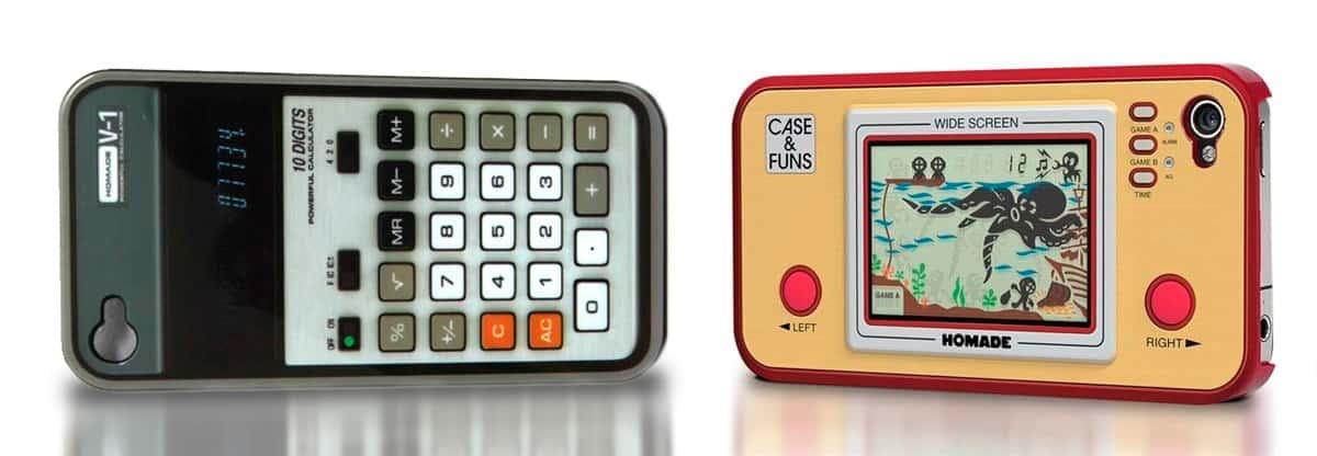 iPhone 4 retro cover – regnemaskine og retro-game (bip-bip-spil)