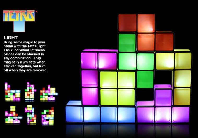 Tetris bordplampe – sæt den sammen som du vil – pris DKK 319,-