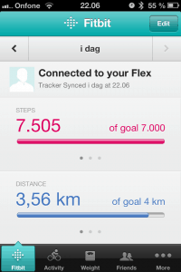 App til iPhone, Fitbit Flex
