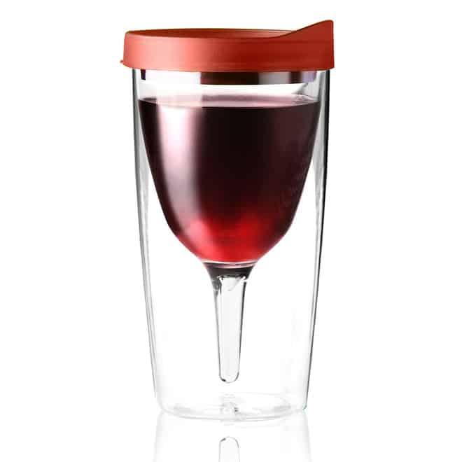 "Vino2Go – smart ""takeaway"" vinglas, pris DKK 149,-"