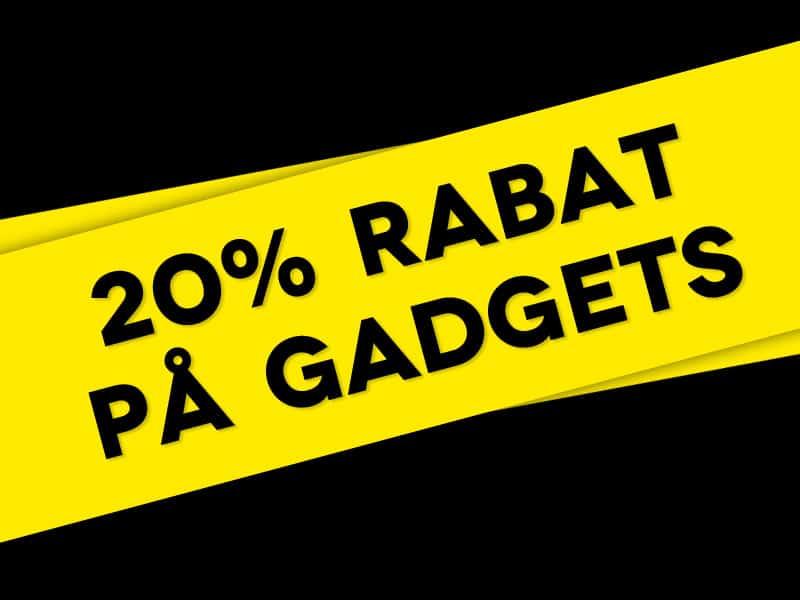 20% rabat på gadgets