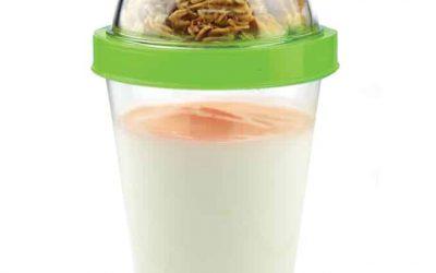 YO2GO – yoghurtkrus med plads til müsli, pris DKK 99,-