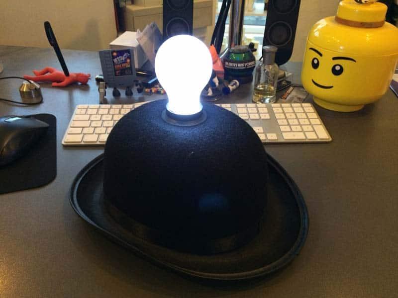 Test af Lightheaded hat med lys i